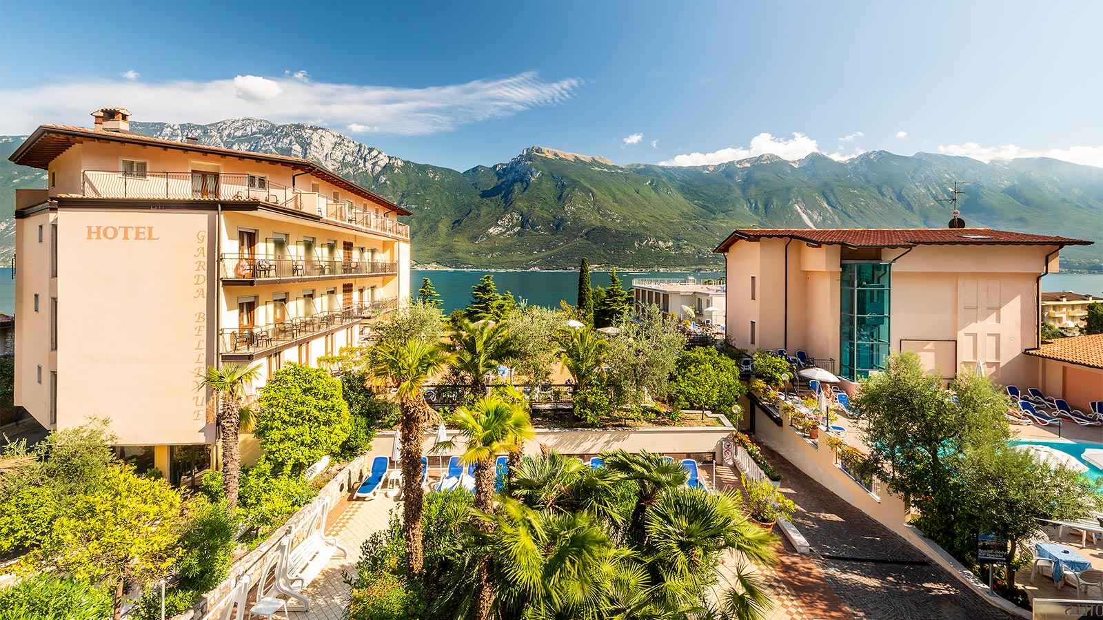Panoramic view on Hotel Garda Bellevue